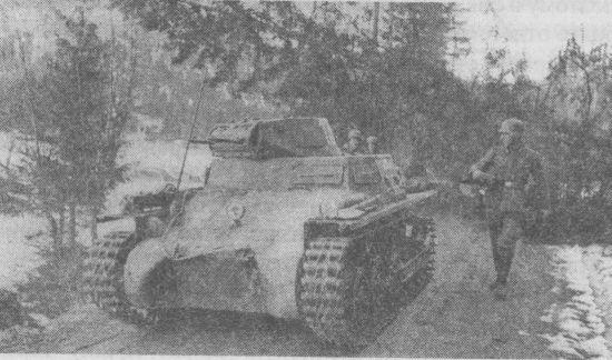 Лёгкий танк Pz.I Ausf.A из состава 40-го танкового батальона специального назначения. Норвегия, апрель 1940 года.