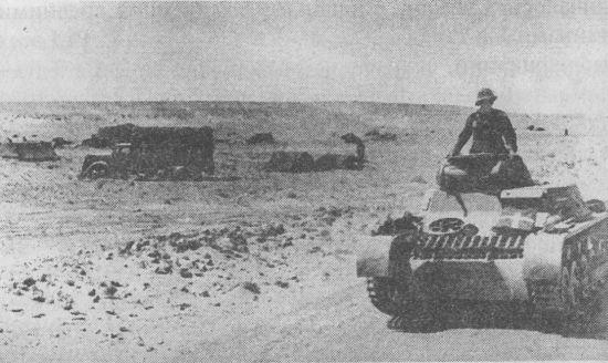 Pz.I Ausf.A под Эль-Агейлой. Северная Африка, 1941 год.