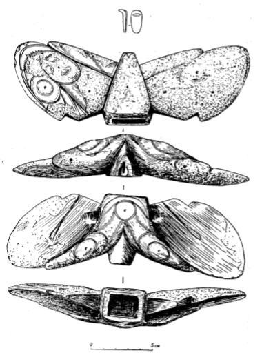 «Крылатый предмет» из могилы № 4 (возле скелета № 3) Уэленского могильника