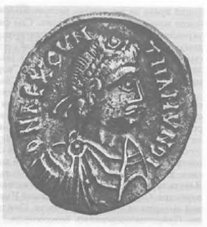 Рис. 22. Серебряная монета короля вандалов Гунтамунда (484-496). Берлин