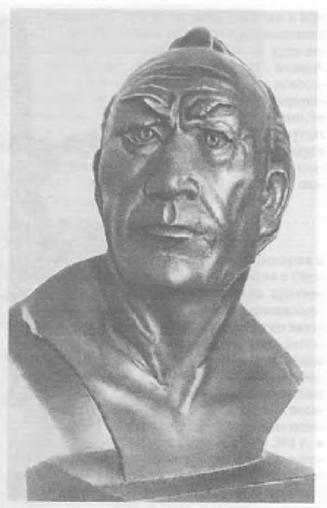 Рис. 13. Гунн из кенколъского могильника. I в. н.э. - Реконструкция М.М. Герасимова