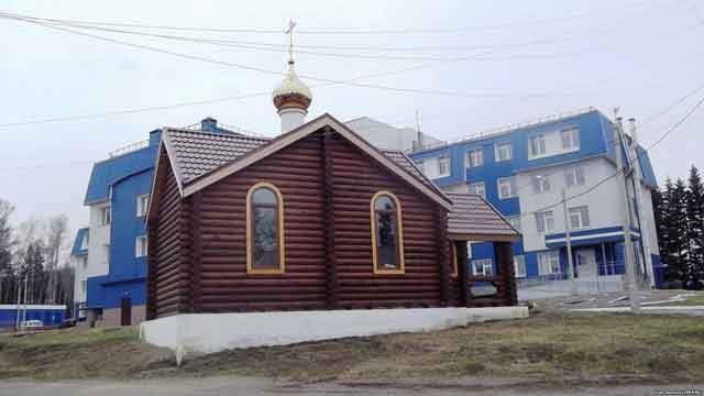 Церковь святителя Луки на территории местной райбольницы