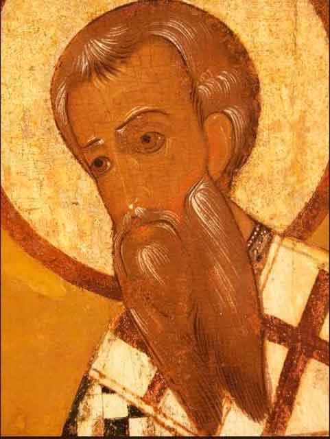 Св.Василей, епископ Херсонский, из ростовского деисусного чина (XVII-XVIII вв)