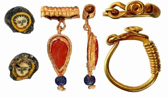 Многочисленные золотые и серебряные украшения обнаружены при раскопках уникального некрополя позднеримского времени.