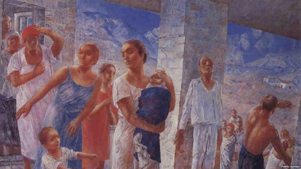 Знаменитая картина Кузьмы Петрова-Водкина о крымском землетрясении 1927 года