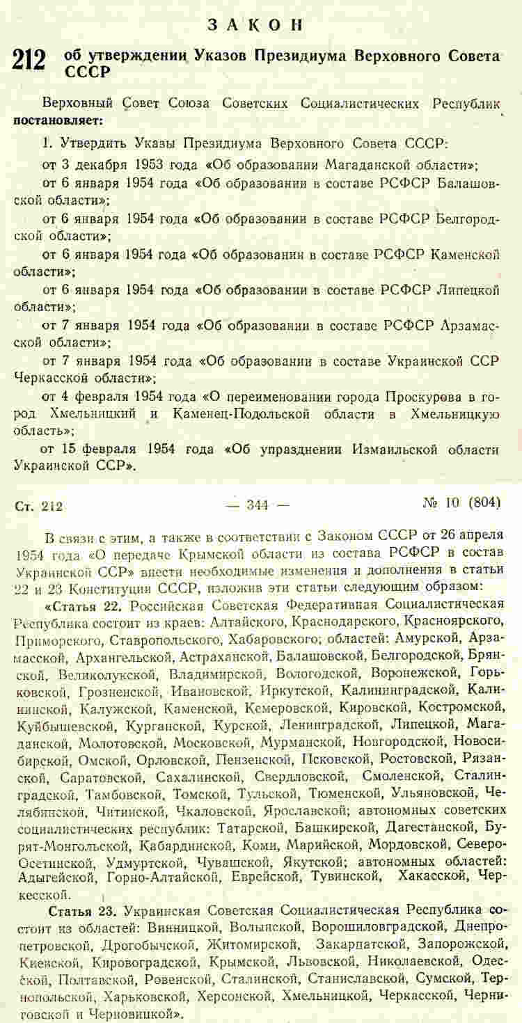 Закон «Об утверждении Указов Президиума Верховного Совета СССР» публикуется в «Ведомостях Верховного Совета СССР» № 10(804) и вступает в силу