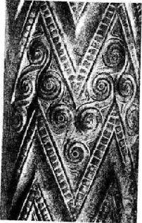 Рельеф на колоннах в гробнице микенского царя Антея.