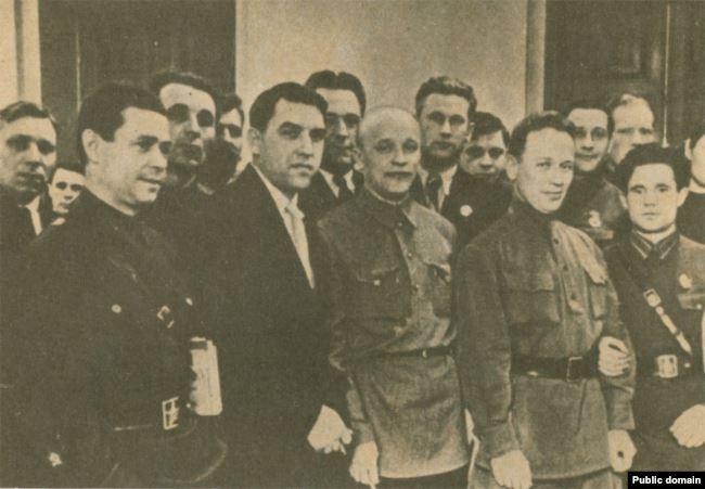 В зале заседаний XVIII съезда ВКП(б). Москва. Март 1939 г.
