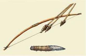 древние лук и стрелы