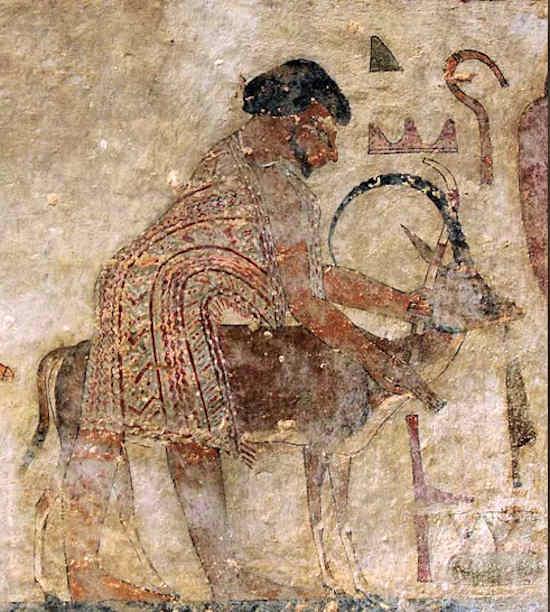 Человек по имени «Абиша Гиксос» был частью иностранной делегации, описанной в картине на могиле Хнхомотепа II (около 1900 г. до н.э.)