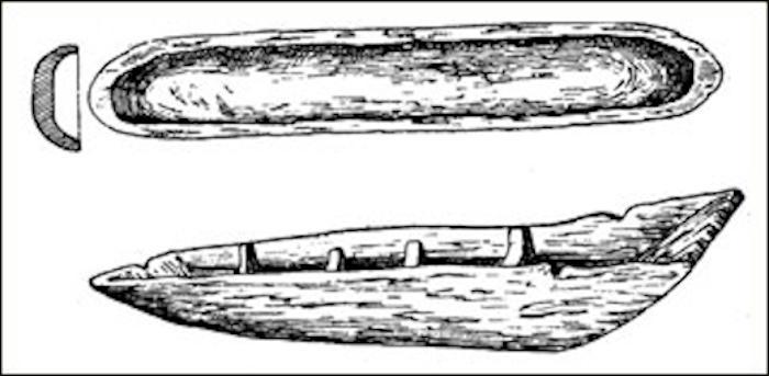 древняя лодка