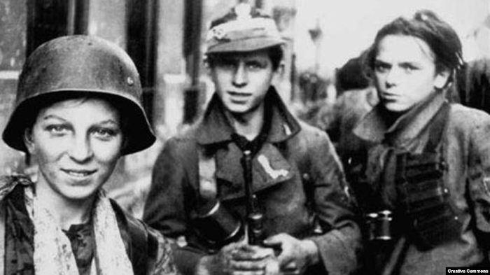 Участники Варшавского восстания, сентябрь 1944 года