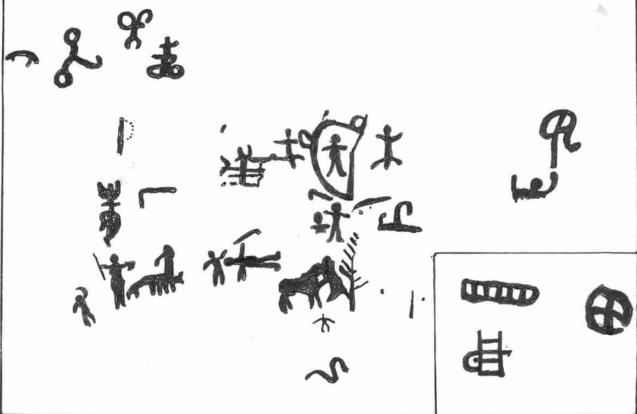 Фрагмент росписи в гроте Таш-Арик