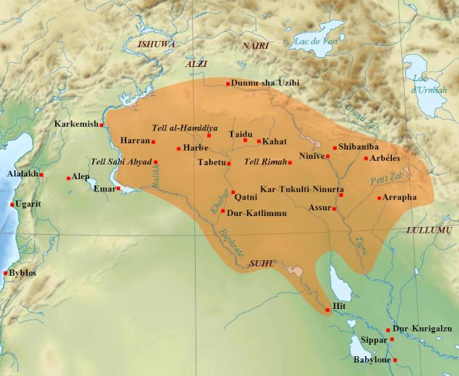 Ассирия при Салманасаре I после окончательного разгрома Митанни. Середина XIII в. до н. э.