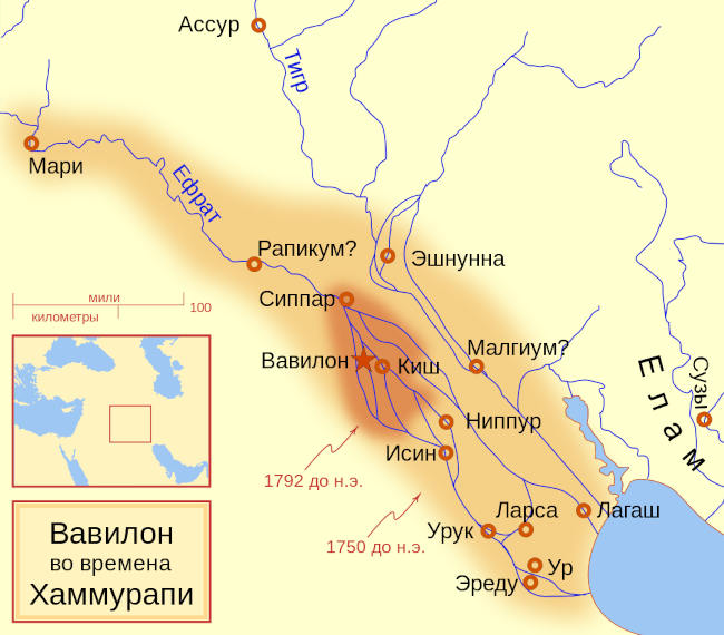 Государство Вавилония карта