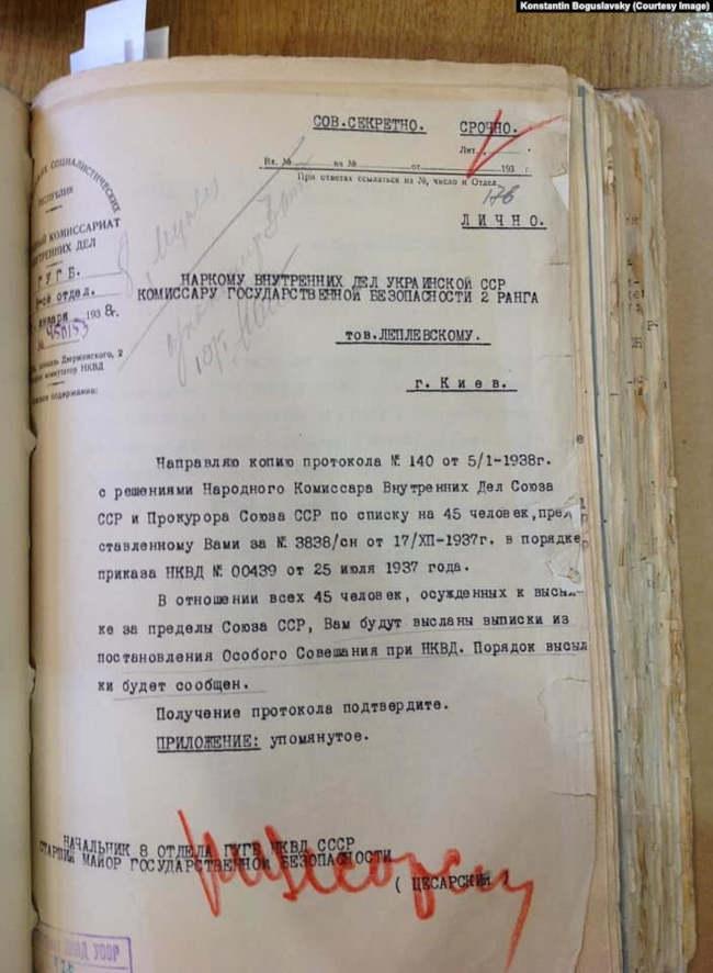 Совершенно секретный документ о высылке иностранцев из СССР