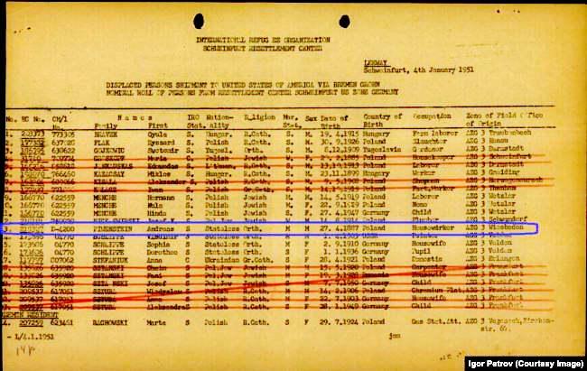Справка о выезде Андрея Пивенштейна в США