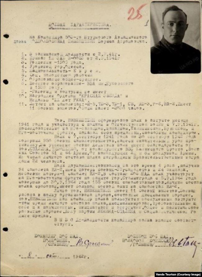 Боевая характеристика на Бориса Пивенштейна