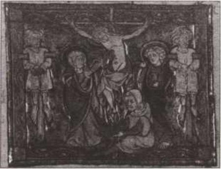Иосиф Аримафейский собирает кровь Спасителя в жертвенное блюдо. Иллюстрация к «Истории Святого Грааля». XIV век
