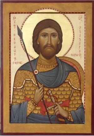 Святой Феодор Гаврас. Греческая икона