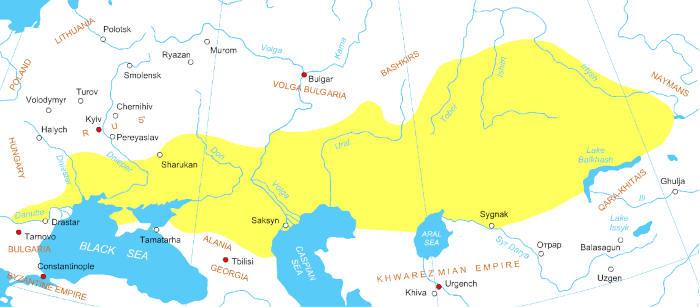 Дешт-и-Кыпчак в начале XIII века