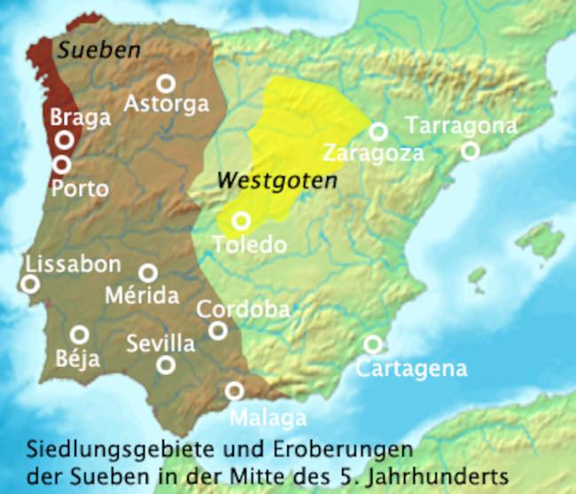 Государство свевов в Испании (409 – 585 гг)
