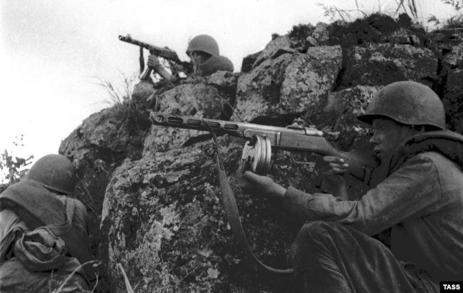 Советские солдаты на Дальнем Востоке в период войны с Японией, 1945 год