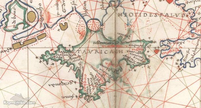 Карта из атласа BATTISTA AGNESE, PORTOLAN ATLAS Italy, ca. 1550 года