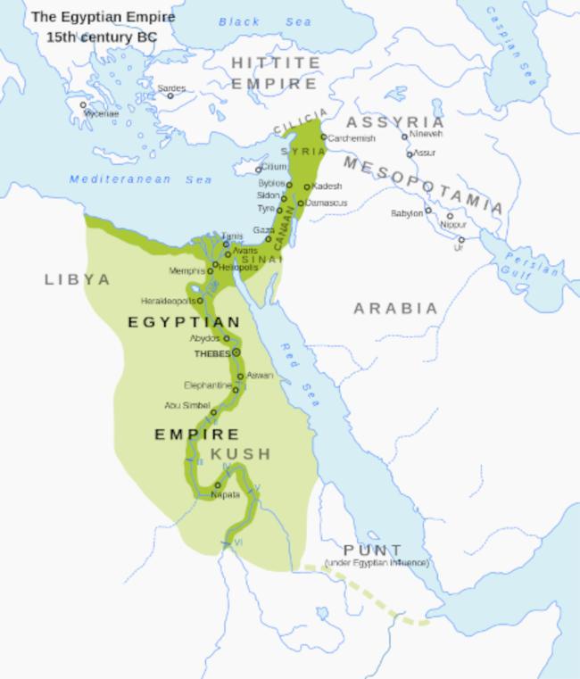 Территория Древнего Египта в XV веке до н. э.
