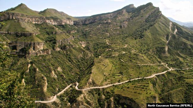 Окрестности села Гуниб в Дагестане