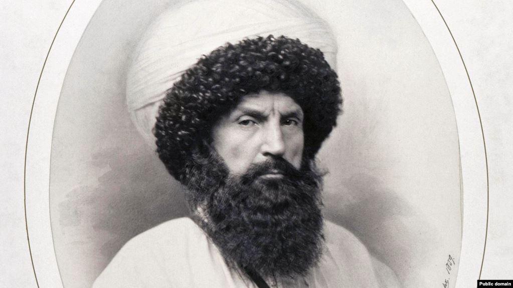 Фрагмент портрета Имама Шамиля, Генрих Деньер, 1859 год