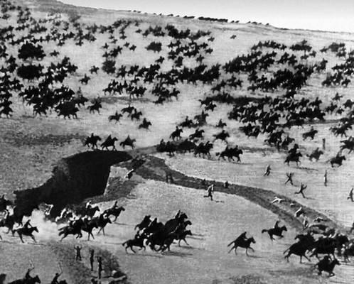кавалерийская атака во время Гражданской войны