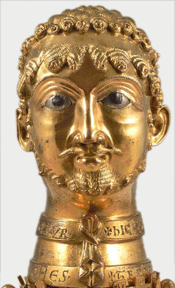 Бюст-реликварий Фридриха I Барбароссы, (ок. 1160 г.)