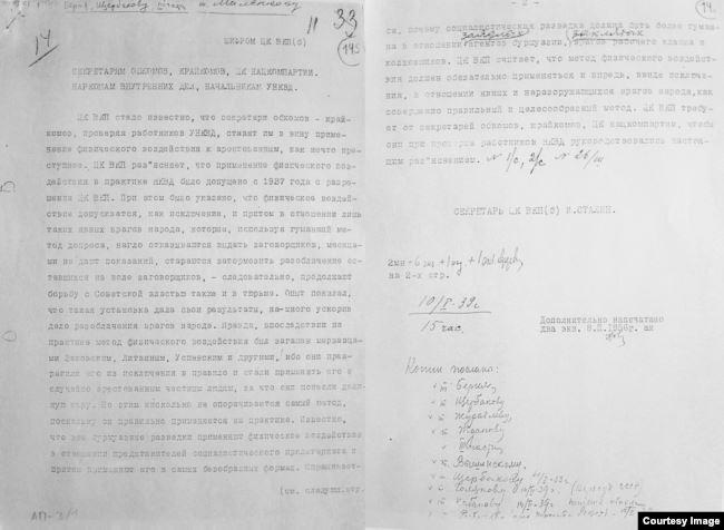 Копия телеграммы Иосифа Сталина