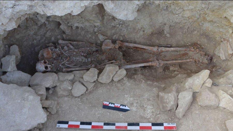 Погребение в могильнике Киль-Дере 1
