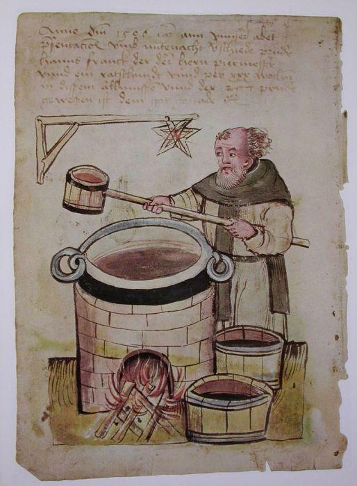 монах варит пиво